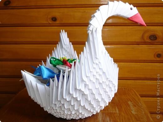 Оригами модульное: Мой лебедь фото 3