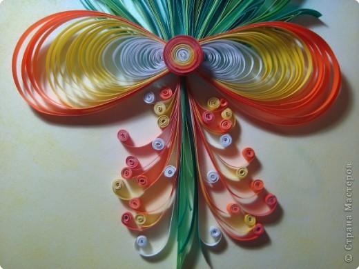 Картина панно рисунок 8 марта День матери День рождения День учителя Квиллинг Букет из нарциссов Бумажные полосы Пастель фото 6