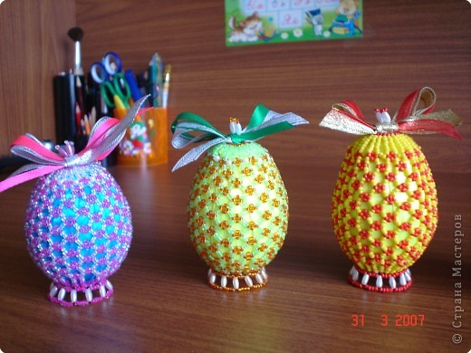МК бисерные яйца Бисер