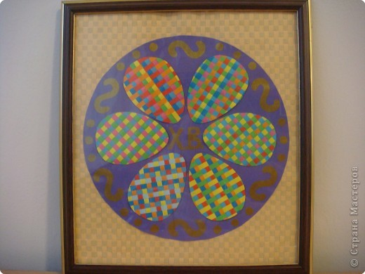 Работа выполнена в технике плетения из бумажных полос. Ширина полос - 5мм. фото 1