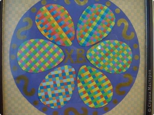 Работа выполнена в технике плетения из бумажных полос. Ширина полос - 5мм. фото 2
