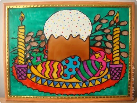 Картина панно рисунок пасха витраж Поделки на Mondie