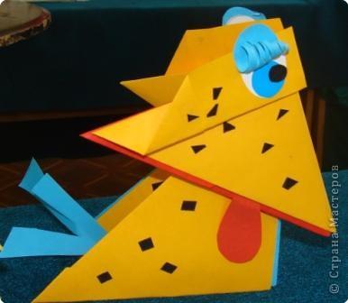 7 марта я проводила VII городскую олимпиаду по оригами среди учащихся школ города Енисейска. Первый тур был заочный. Был запущен треугольный модуль. Нужно было в технике китайского модульного оригами сложить любую модель. И вот, что дети сотворили. фото 9