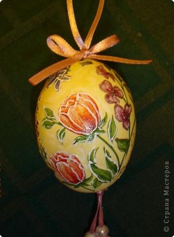 Давно хотелось сделать декупаж на яйцах. Наконец то руки к Пасхе дошли. фото 3
