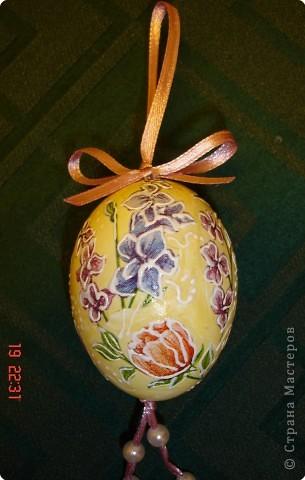 Давно хотелось сделать декупаж на яйцах. Наконец то руки к Пасхе дошли. фото 4