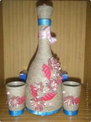 Декор из пластиковых бутылок фото
