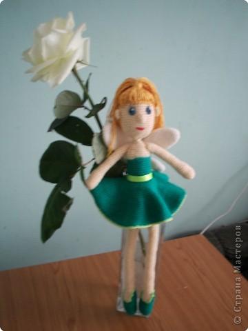 Вот такую Феечку Мечты  я связала в подарок к дню рождения моей подружки. Спасибо за описание yuliya-kinsfater.