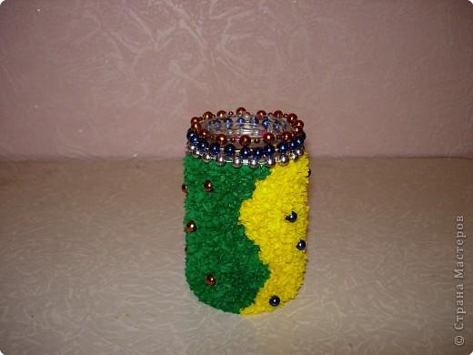 Торцевание: маленькая вазочка фото 3