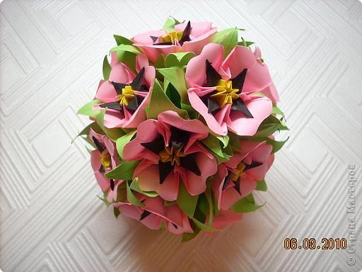 Кусудама 8 марта Оригами