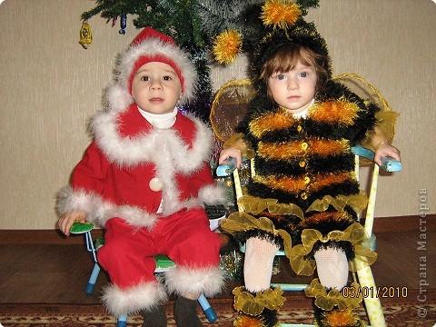 Шитьё: Новогодние костюмы для сына и племянницы фото 1