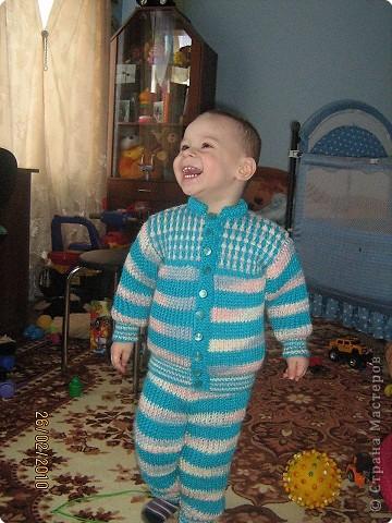 Вязание спицами: Костюм для сына