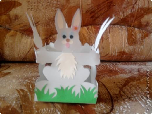 Вот такую корзиночку для яиц мы делали с детками к празднику. фото 1