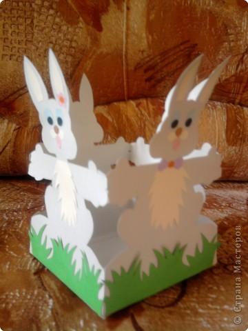 Вот такую корзиночку для яиц мы делали с детками к празднику. фото 2