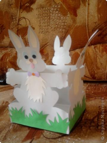 Вот такую корзиночку для яиц мы делали с детками к празднику. фото 3
