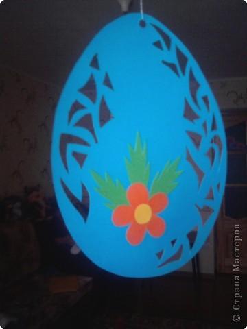 Вот такими яичками можно украсить интерьер к Пасхе. фото 1