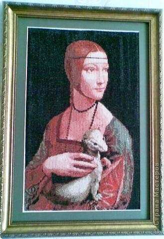 Вышивка крестом Дама с горностаем.