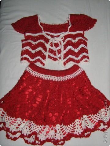 Вязание крючком: Болеро+юбка пе-пе фото 1