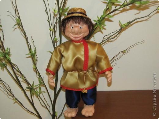 Моя первая куколка - грунтованный текстиль фото 1