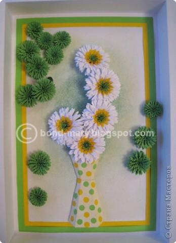 Я сегодня к вам опять с хризантемами :) эта композиция придумана мной одновременно с предыдущей работой (тоже хризантемы) - http://stranamasterov.ru/node/33812?u= Работа в рамке со стеклом. фото 18