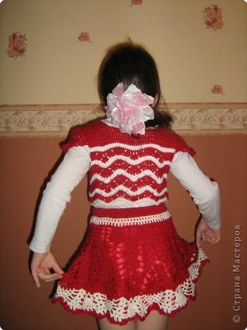 Вязание крючком: Болеро+юбка пе-пе фото 2