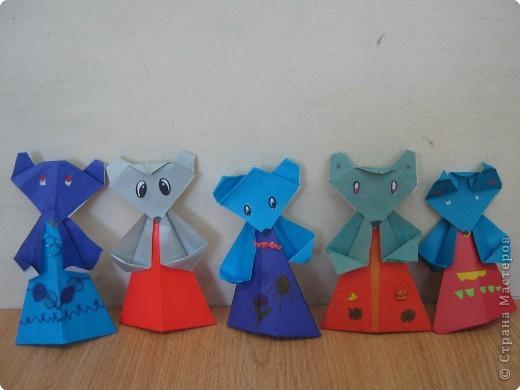 Оригами: Наши мышки