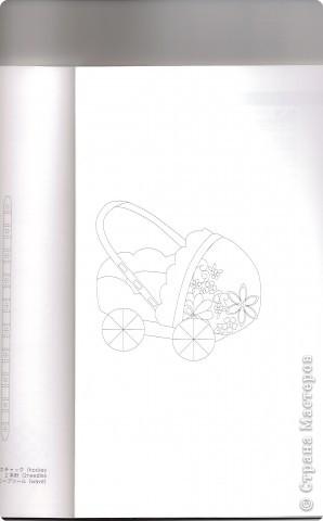 Коляска сделана в технике Пергамано .Материал пергамент, размер 7,5 см фото 6