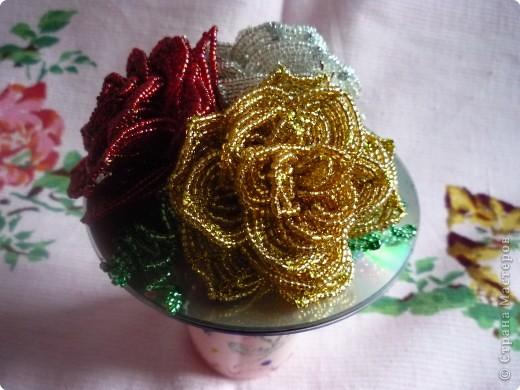 Плетение на основе или французская техника бисероплетения.