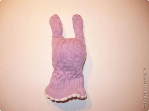 Игрушка Мастер-класс Шитьё Заяц из носка Носки фото 4