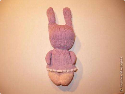 Игрушка Мастер-класс Шитьё Заяц из носка Носки фото 7