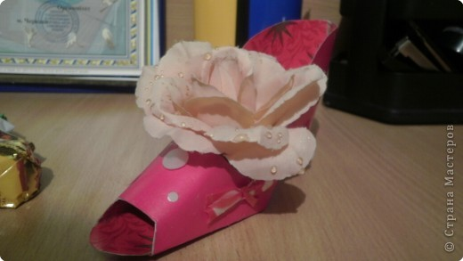 Бумагопластика: Туфелька вподарок