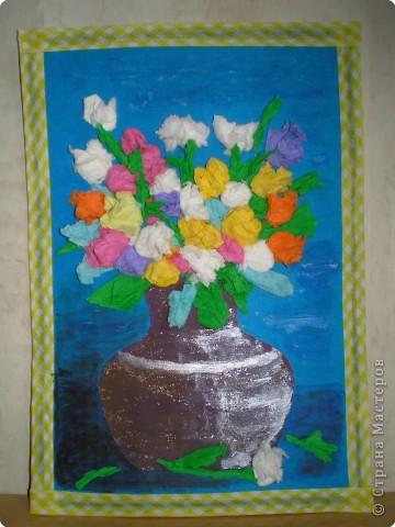 Спасибо Анат за прекрасную идею. Букет делали вместе с сыном (4, 5 года) в Дом детского творчества в подарок его любимой учительнице!