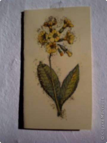 Весенняя открыточка в технике декупаж фото 1