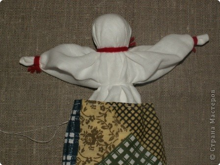 """Моя кукла """"Столбушка"""". Старалась делать по правилам. Но современные материалы все таки меняют образ.  фото 15"""