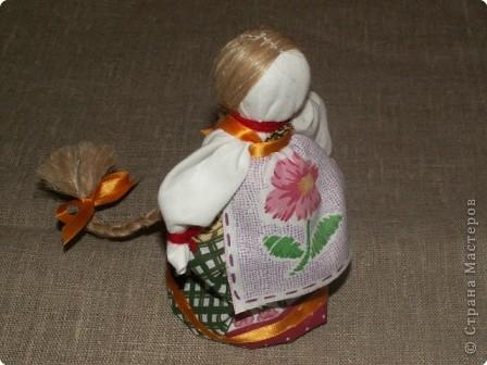 """Моя кукла """"Столбушка"""". Старалась делать по правилам. Но современные материалы все таки меняют образ.  фото 18"""