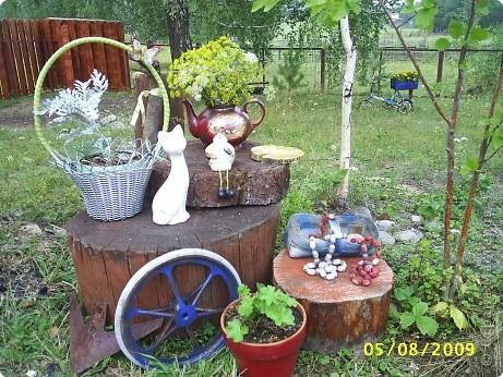 Если разбросать по саду вот такие прибамбасики. то работа спорится веселее. фото 1