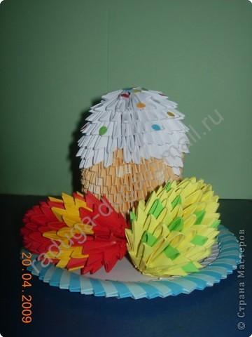 Оригами модульное: Пасхальный натюрморт фото 1