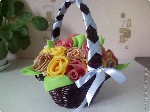 Плетение: Корзинка с цветами...