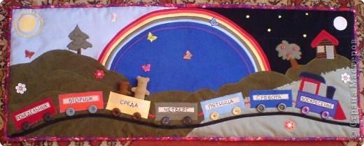 """Коврик для изучения дней недели, понятий """"сегодня"""", """"вчера"""", """"завтра"""", цветов (7), понятий """"утро"""", """"вечер"""" и """"ночь"""", счета до 14, форм круга, квадрата, прямоугольника, полукруга и много чего еще.  фото 1"""