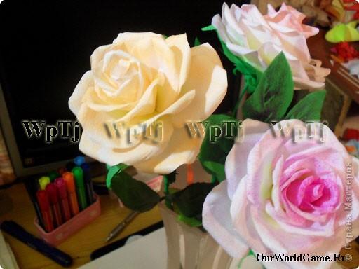 Мастер класс роза из бумаги фото 1
