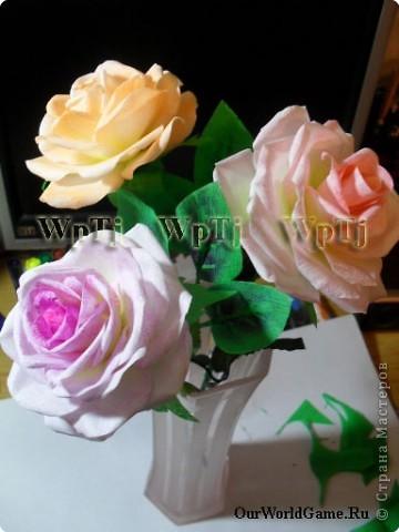 Мастер класс роза из бумаги фото 13