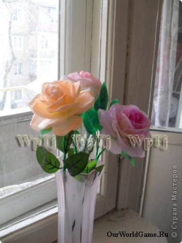 Мастер класс роза из бумаги фото 2