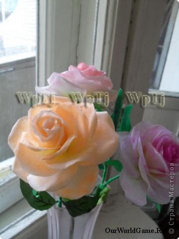 Мастер класс роза из бумаги фото 12