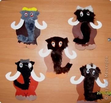 Аппликация: Нашествие мамонтов. фото 4