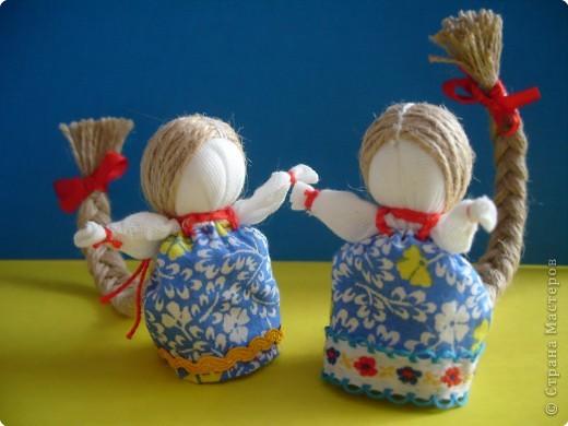 """Сшила таких куколок """"на Счастье"""" своим девочкам - Владе и Злате. Спасибо Татьяне (tatvasni) за ее МК. фото 5"""