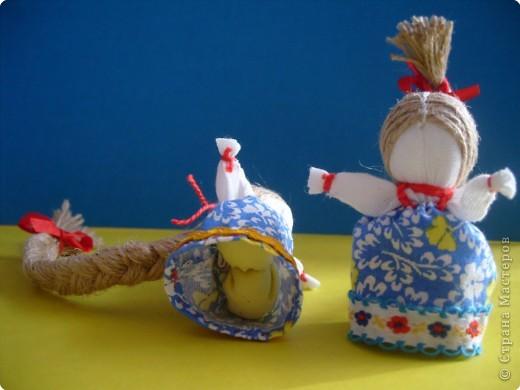 """Сшила таких куколок """"на Счастье"""" своим девочкам - Владе и Злате. Спасибо Татьяне (tatvasni) за ее МК. фото 6"""