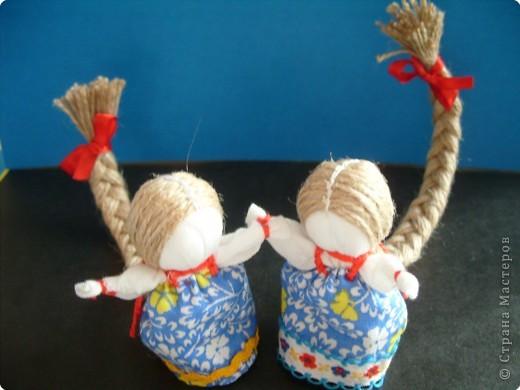 """Сшила таких куколок """"на Счастье"""" своим девочкам - Владе и Злате. Спасибо Татьяне (tatvasni) за ее МК. фото 1"""