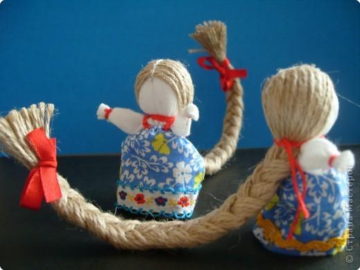 """Сшила таких куколок """"на Счастье"""" своим девочкам - Владе и Злате. Спасибо Татьяне (tatvasni) за ее МК. фото 4"""