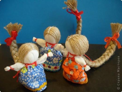 """Сшила таких куколок """"на Счастье"""" своим девочкам - Владе и Злате. Спасибо Татьяне (tatvasni) за ее МК. фото 13"""