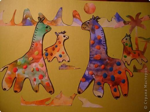 """МК2:) """"Жирафики"""". Таких жирафов я сделала при помощи """"лепилок""""."""