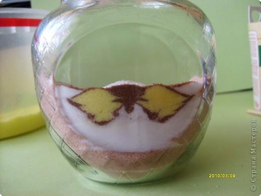 """Дорогие мастерицы, вот такой новый рисунок крашеной солью получился у меня!  Захотелось попробовать изобразить бабочку. А по ходу """"рисования"""" решила фотографировать процесс по просьбе некоторых жителей СМ показать, как я это делаю.  фото 8"""